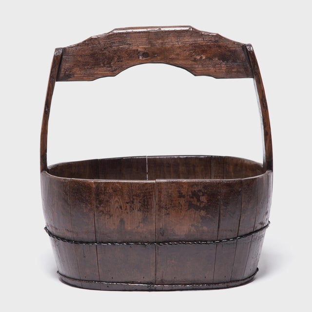 Metal 19th Century Chinese Burden Bucket For Sale - Image 7 of 7