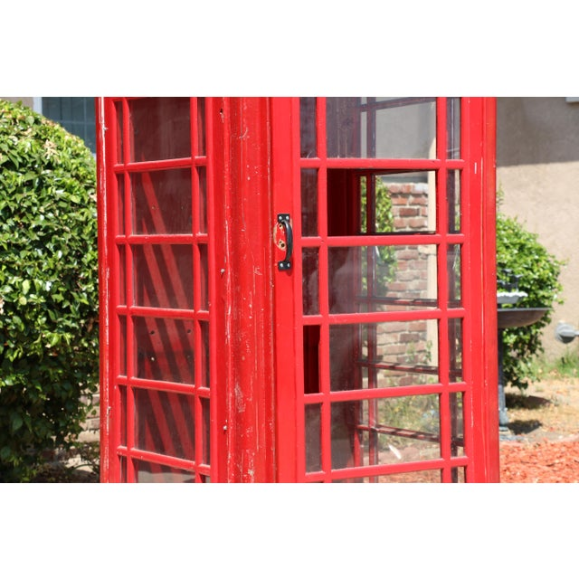 Art Deco Metal Vintage London Lifesize Telephone Booth For Sale - Image 3 of 13