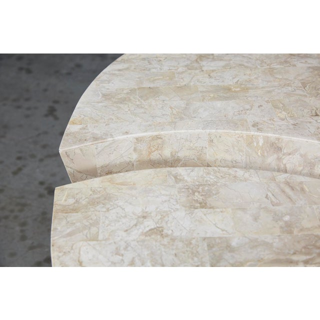 """1990s Contemporary Freeform Tessellated Stone Two Part """"Hampton"""" Coffee Table For Sale - Image 12 of 13"""