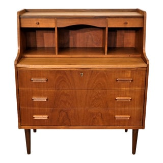 "Mid-Century Modern Teak Secretary - ""Gitte"" For Sale"