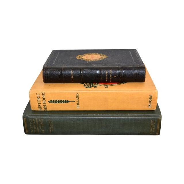 Antique Decorative Books - Set of Three - Image 1 of 11