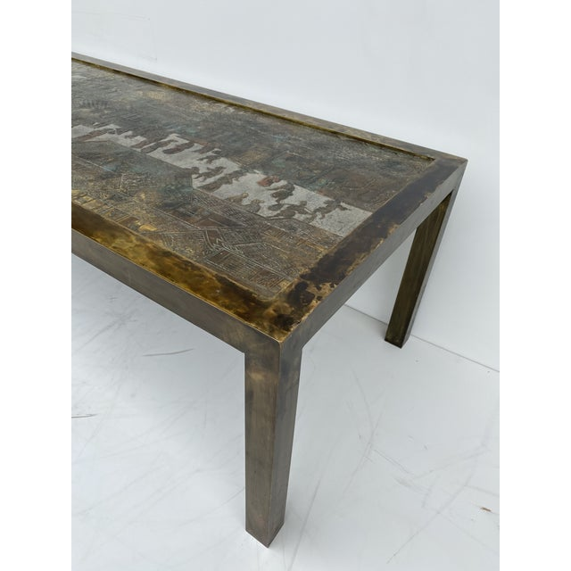 Philip and Kelvin LaVerne Etched Bronze Coffee Table For Sale - Image 12 of 13