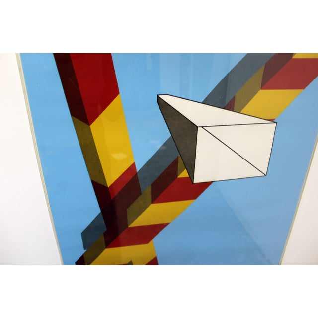 1968 Mid-Century Modern Allan d'Arcangelo Abstract Surrealist Print For Sale - Image 4 of 9