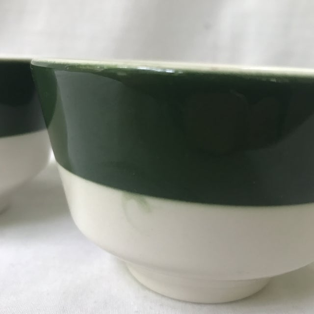 Homer Laughlin Green Band Bowls - A Pair For Sale - Image 5 of 6