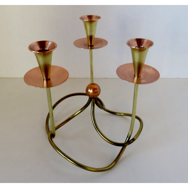 Metal Knot Candelabra For Sale In Los Angeles - Image 6 of 6