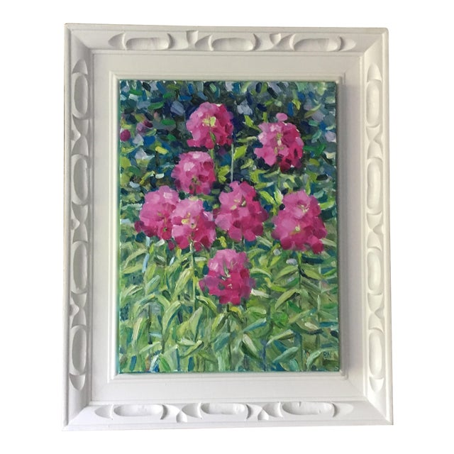 Pink Flowers Original Still-Life Oil Painting - Image 1 of 5