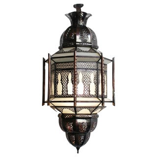Moroccan Frosted Lantern For Sale