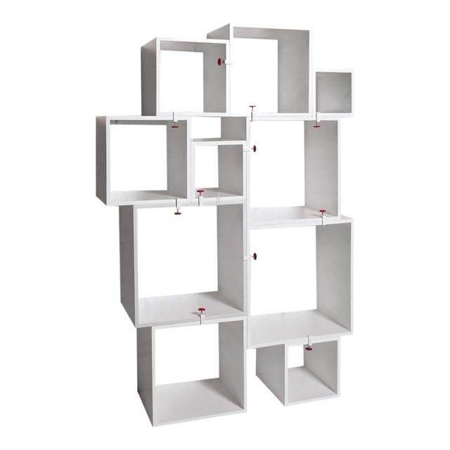 Modern Seletti Assemblage Nesting Modular Bookcase Wall Unit- 10 Pieces For Sale