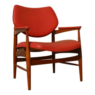 Vintage Mid-Century Modern Thonet Walnut Armchair For Sale