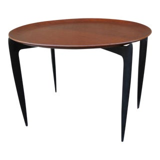 Circular Teak Tray Table by H. Engholm & Svend Willumsen for Fritz Hansen