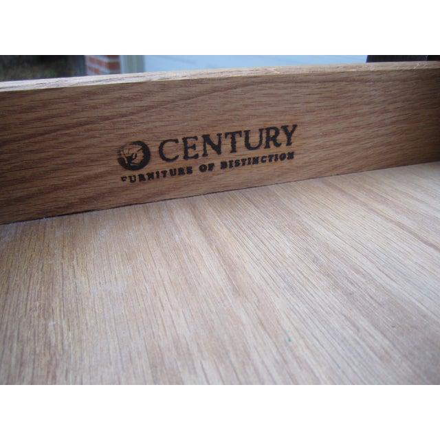 Metal Raymond Sobota Century Furniture Burl Wood Black Lacquer Writing Desk For Sale - Image 7 of 12