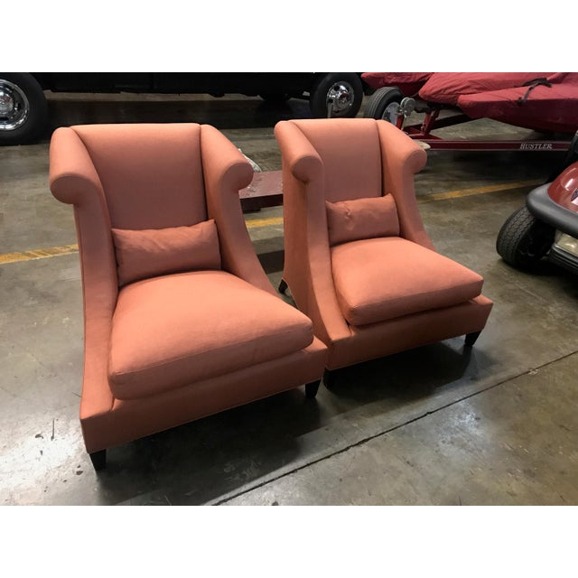 Baker Furniture Villa Club Chairs by Thomas Pheasant - a Pair For Sale - Image 11 of 11