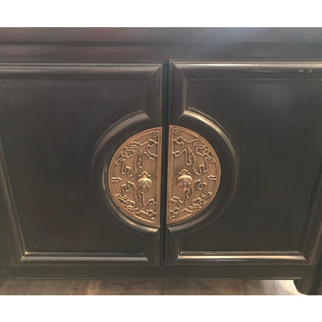 Century Furniture Century Furniture Black Lacquer Console Cabinet For Sale - Image 4 of 10