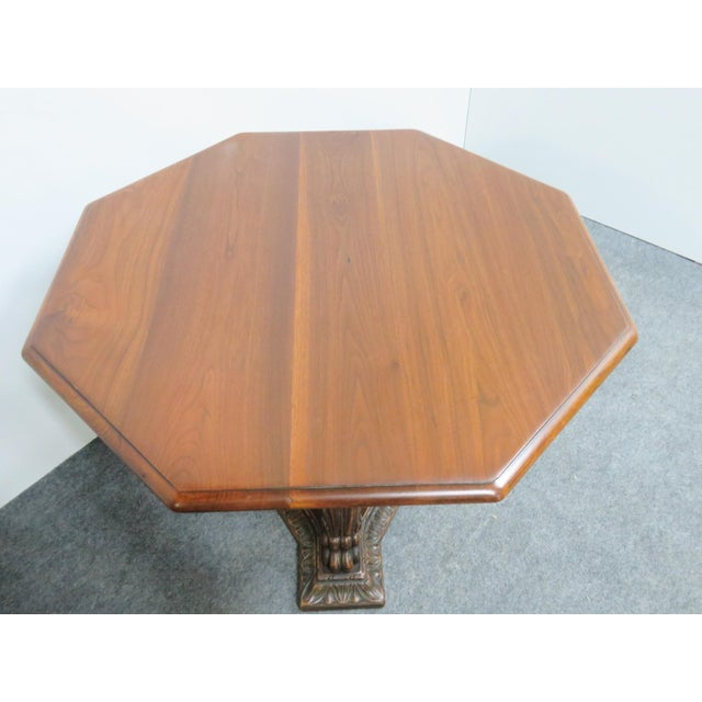 Late 19th Century Italian Style Walnut Carved Center Table For Sale - Image 5 of 6