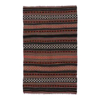 Vintage Turkish Flat-Weave Kilim Tribal Rug