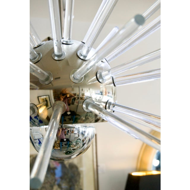 Stilnovo 1960s Sputnik Chandelier in Chrome and Lucite For Sale In West Palm - Image 6 of 12