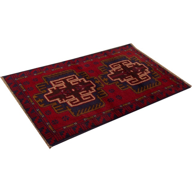 "Apadana - Vintage Persian Balouch Rug - 2'9"" x 4'7"" - Image 2 of 4"
