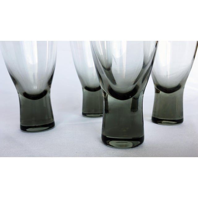 Holmegaard Mid-Century Danish Smokey Wine Port Glasses - Set of 8 - Image 4 of 6