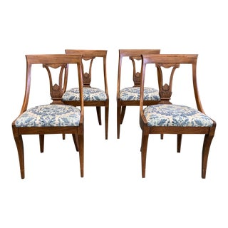 Set of 4 Mid Century, French Style John Stuart Chairs, Signed For Sale