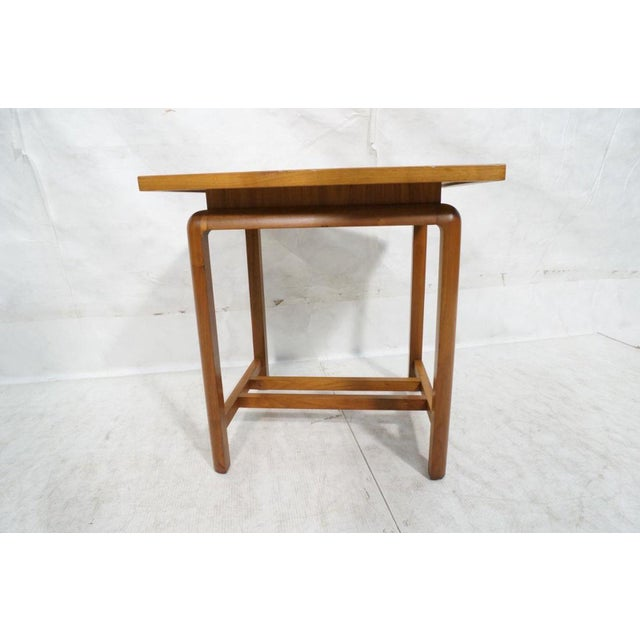 Mid-Century Modern Risom Style Floating Top Side Table For Sale - Image 3 of 10