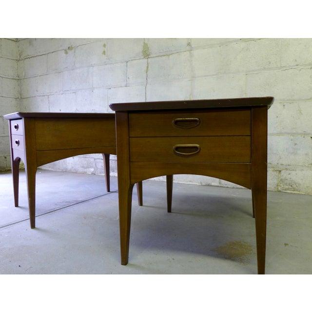 Mid Century Modern Walnut Nightstands - A Pair - Image 4 of 6