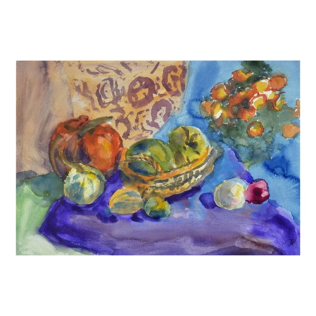 Les Anderson Harvest Still Life Painting - Image 1 of 4