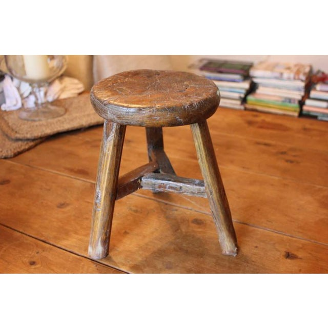 Rustic French Round Stool - Image 6 of 6