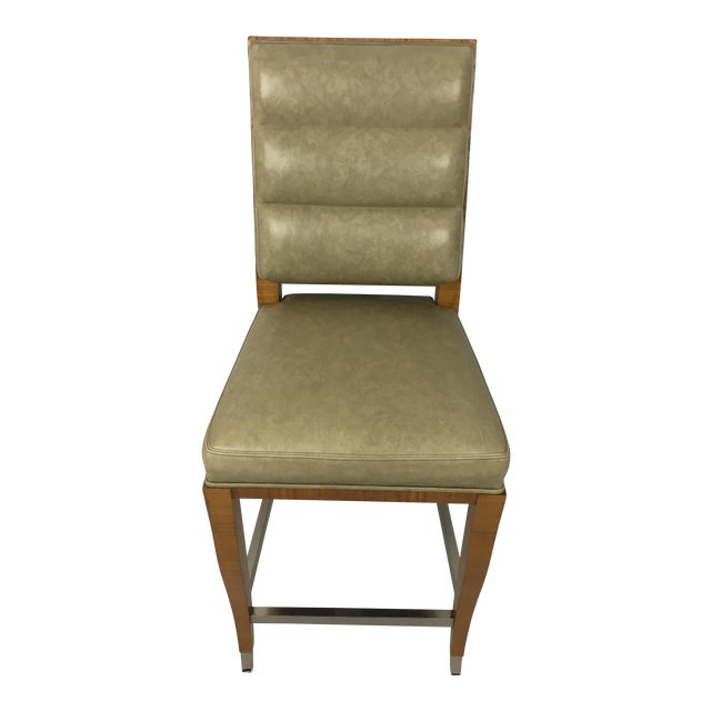 Lemonwood Green Aubusson Bar Stool For Sale