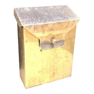1960s Brass Hinge-Top Mailbox For Sale