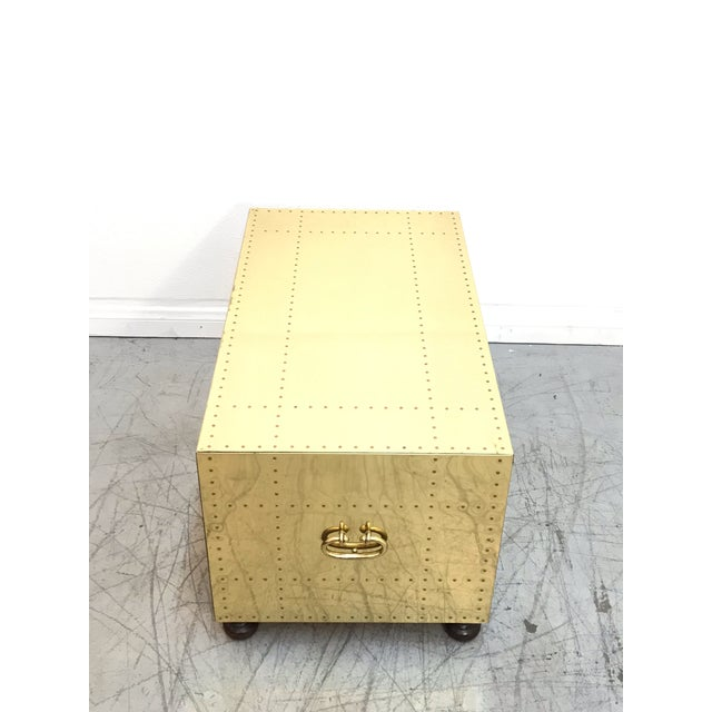 1970s Hollywood Regency Sarreid Clad 2 Drawer Chest For Sale - Image 9 of 12