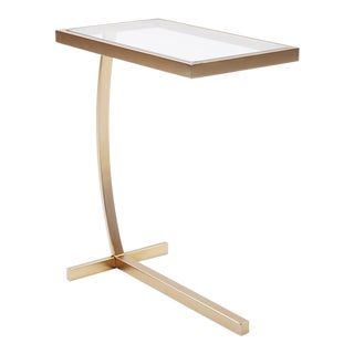 Kenneth Ludwig Chicago Brass Side Table For Sale