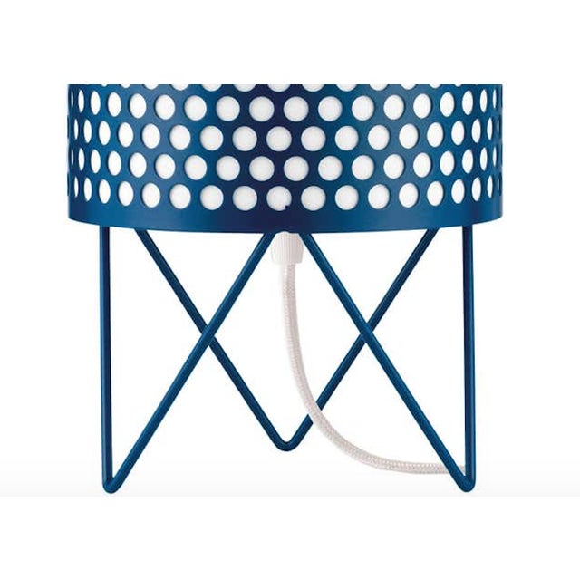 Mid-Century Modern Joaquim Ruiz Millet 'ABC' Table Lamp in Blue For Sale - Image 3 of 5