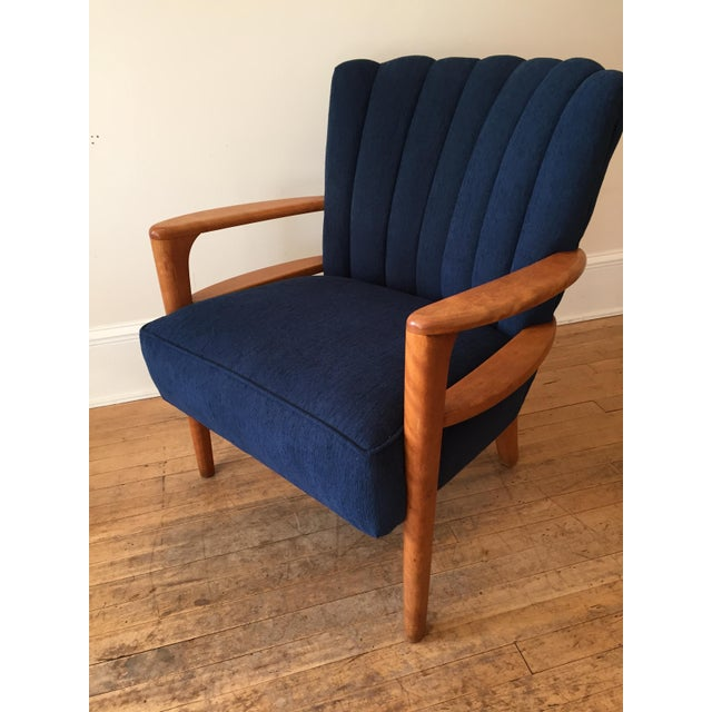 Heywood Wakefield Channel Back Armchair - Reupholstered - Image 3 of 9
