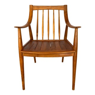 Scandinavian Mid Century Modern Style Teak Chair For Sale