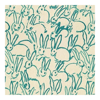 Hunt Slonem for Lee Jofa, Hutch Print Fabric, Turquoise, 1 Yard For Sale