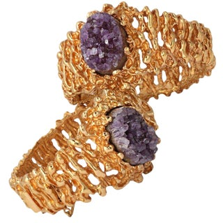 Pair of Amethyst Panetta Bracelets For Sale