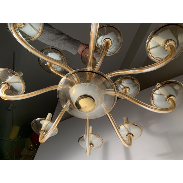 Glass Vintage Bohemian Crystal Murano Chandelier For Sale - Image 7 of 10