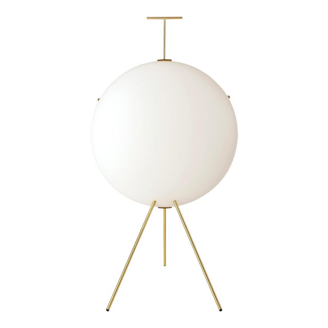 Gio Ponti Luna Verticale Floor Lamp in Brass For Sale