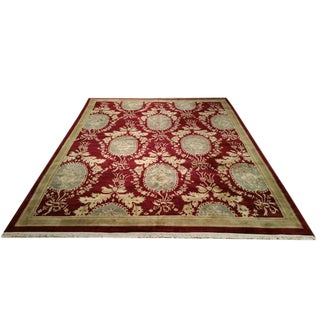 Aubusson Design Tibetan Rug - 8′6″ X 11′6″ - Size Cat. 9x12 For Sale
