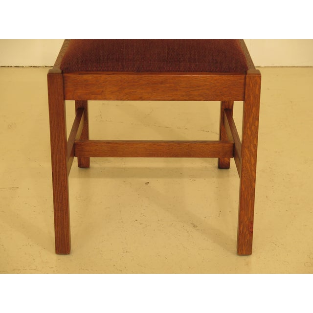 Brown Stickley Mission Oak Dining Room Chairs - Set of 4 For Sale - Image 8 of 13