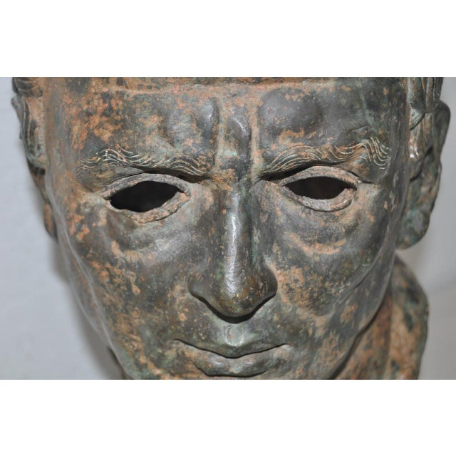 19th Century Bronze Head After Greek Antiquities For Sale - Image 9 of 10