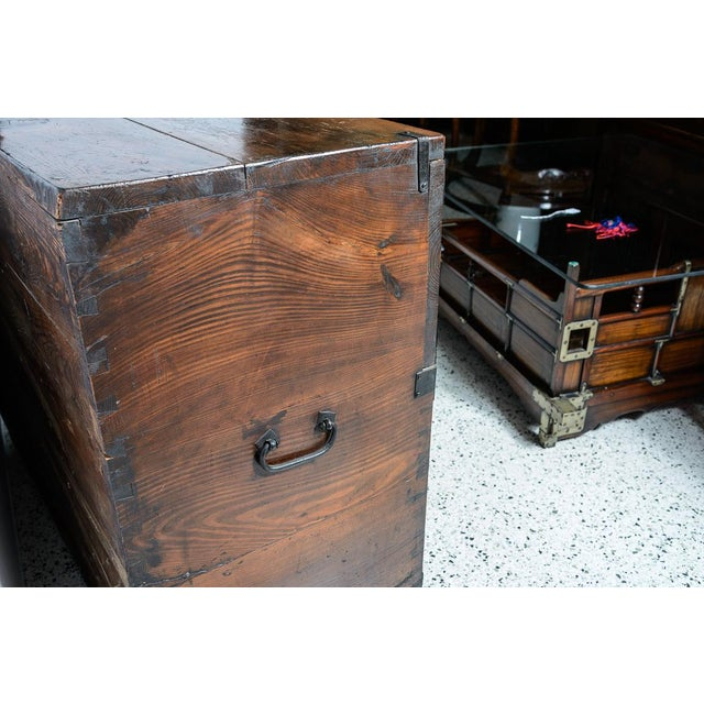 """Asian Early 19th Century Japanese """"Tansu"""" Chest For Sale - Image 3 of 9"""