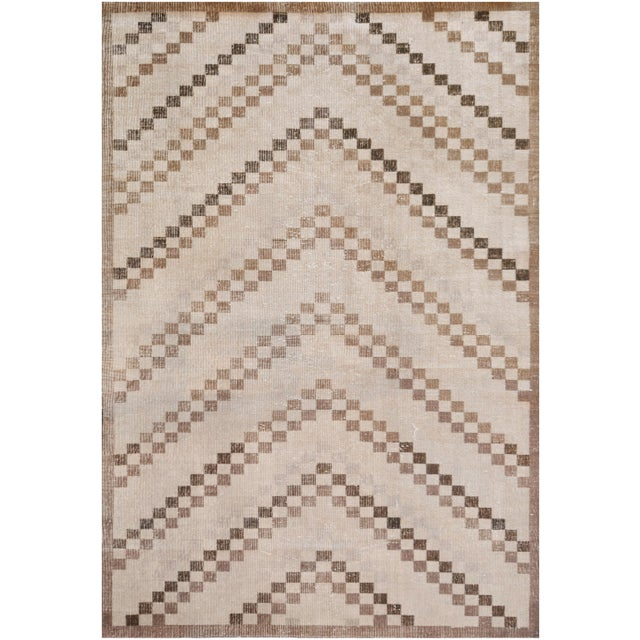 Modern Mansour Quality Handmade Turkish Rug - 5′1″ × 7′3″ For Sale - Image 3 of 4