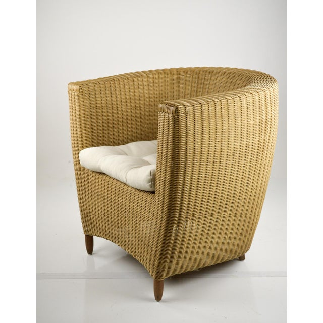 Mid-Century Modern Wicker Tub Chairs - Pair For Sale - Image 4 of 11