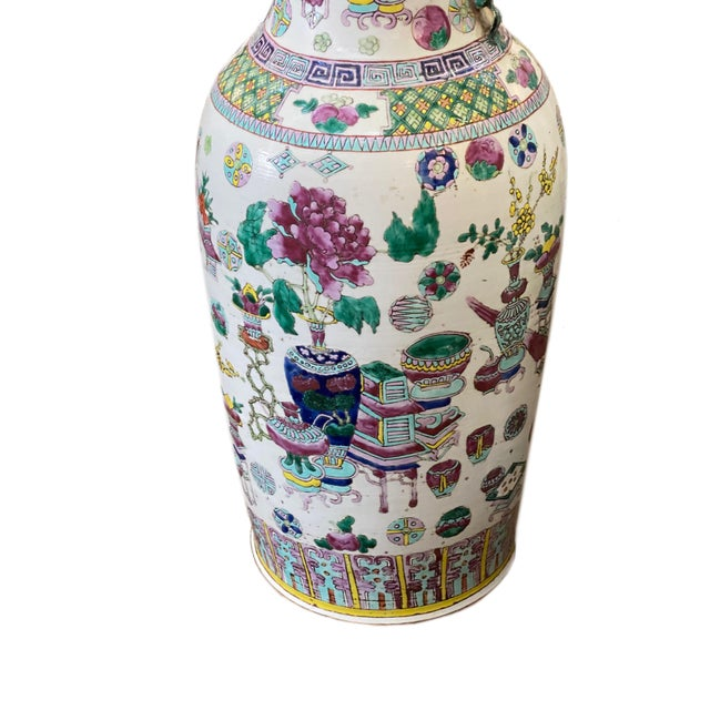 19th Century Asian Vases - a Pair For Sale - Image 4 of 5