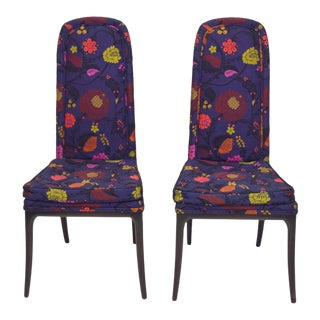 Erwin-Lambeth Tall Back Side Chairs, Pair For Sale