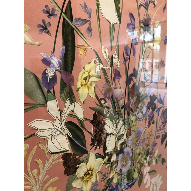 Paper Meadow Floral Collage by Marcy Cook, Framed For Sale - Image 7 of 9