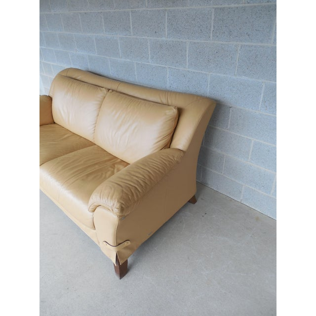 "NATUZZI Italian Leather Sofa 86""W - Image 7 of 9"