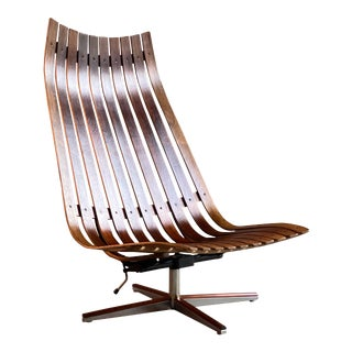 Hans Brattrud Scandia Rosewood Lounge Chair by Georg Eknes, Norway, circa 1970 For Sale