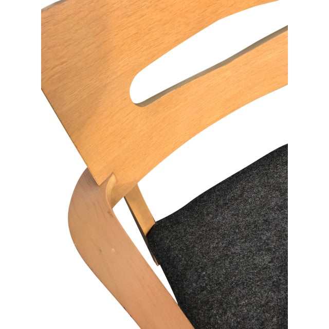 1960s Mid-Century Modern Gray Felt Upholstered Occasional Chairs - a Pair For Sale In Chicago - Image 6 of 7